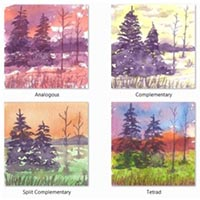 watercolor value studies, four examples